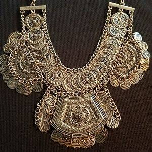 Gorgeous Aztec style statement necklace